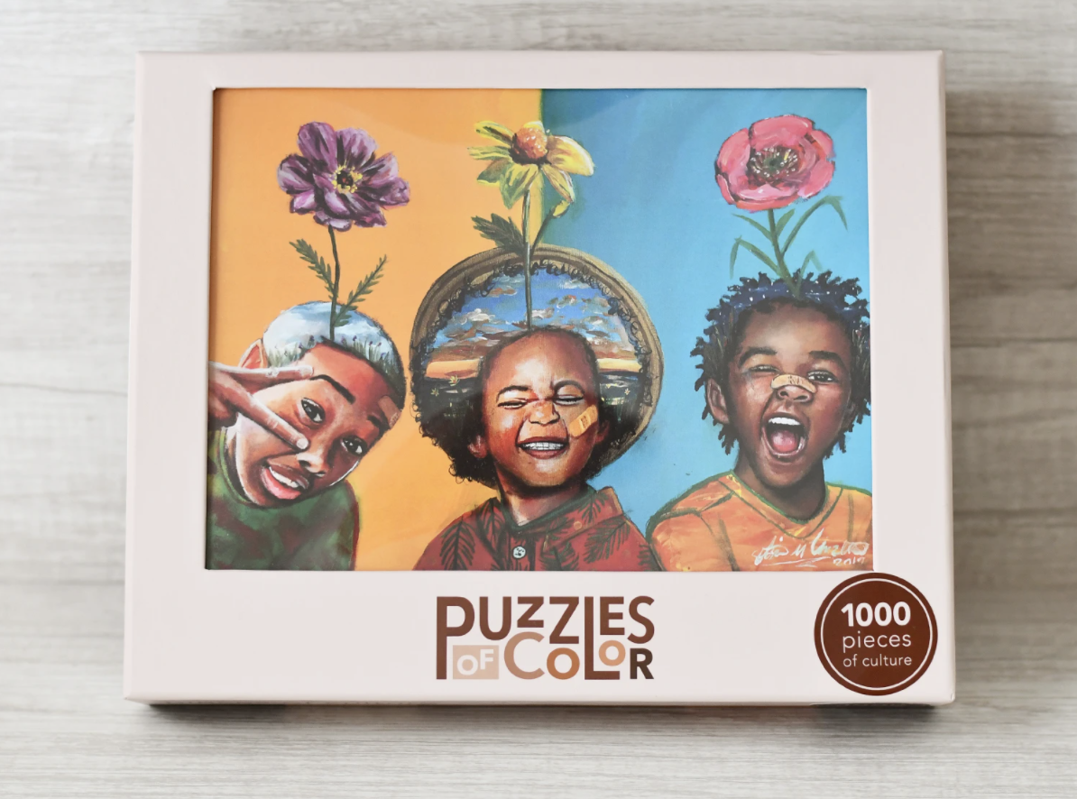 Puzzles of Color - puzzle of three boys