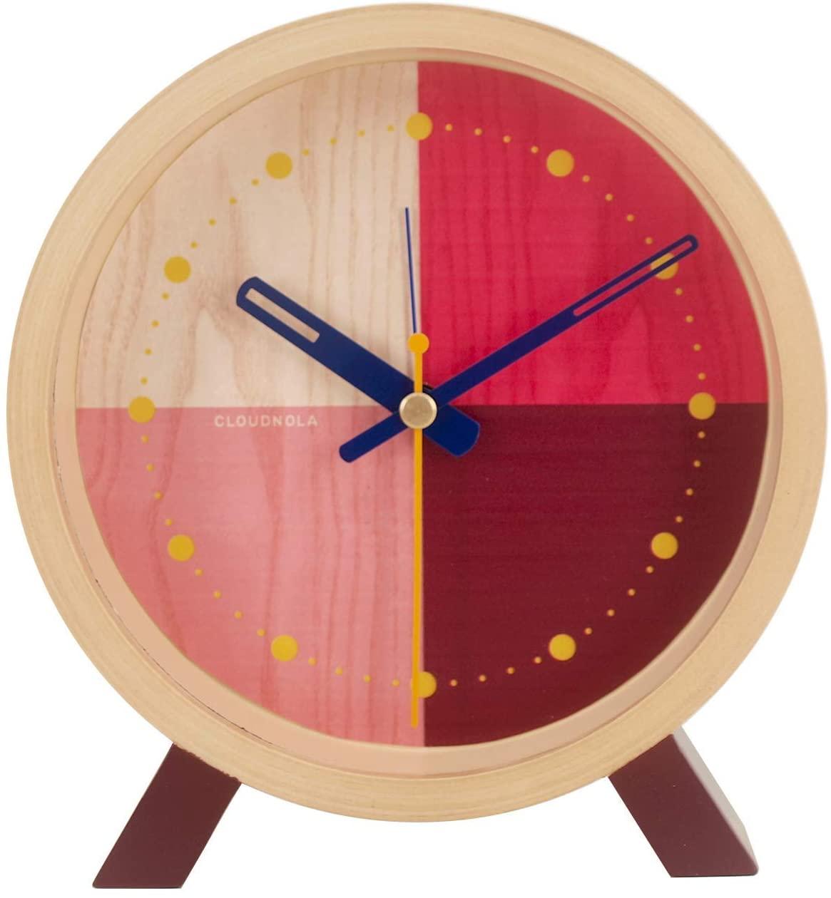 Cloudnola Flor Wood Desk and Alarm Clock