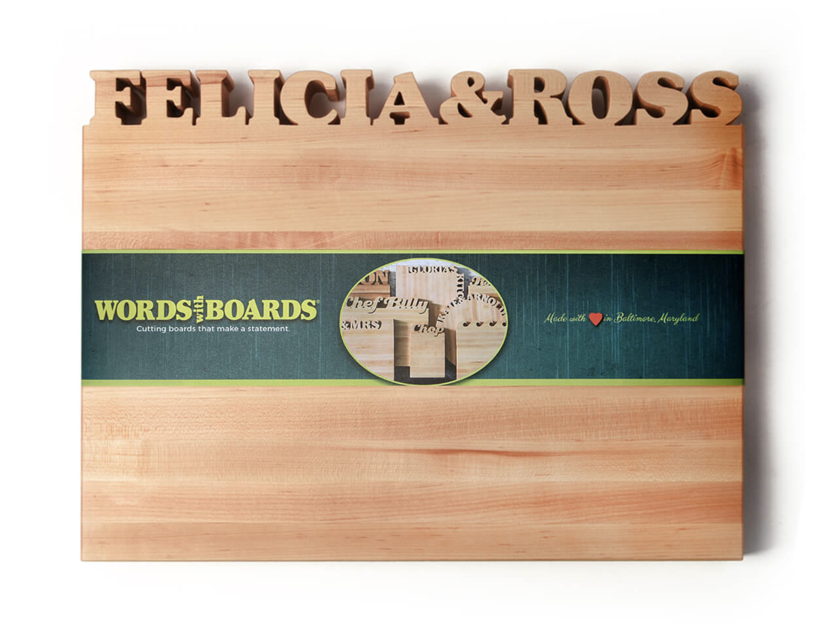 Words With Boards Personalized Cutting Boards
