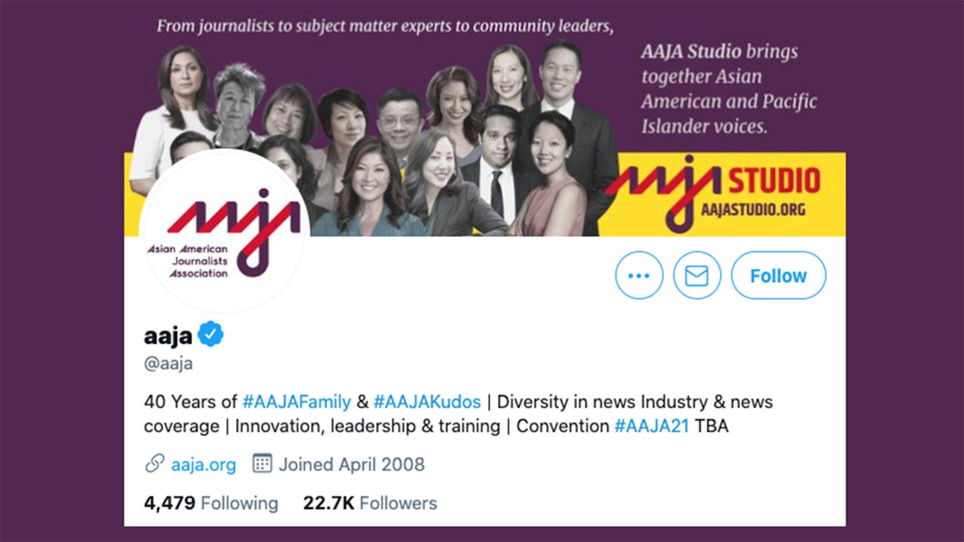AAJA Twitter Account