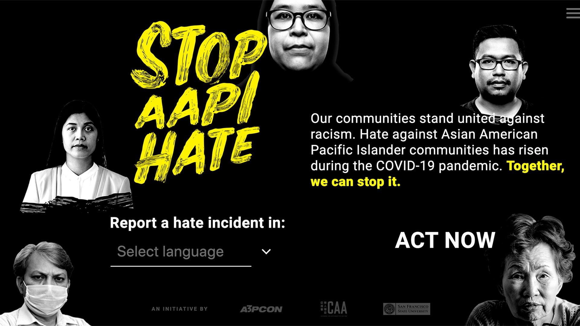 Stop AAPI Hate Home