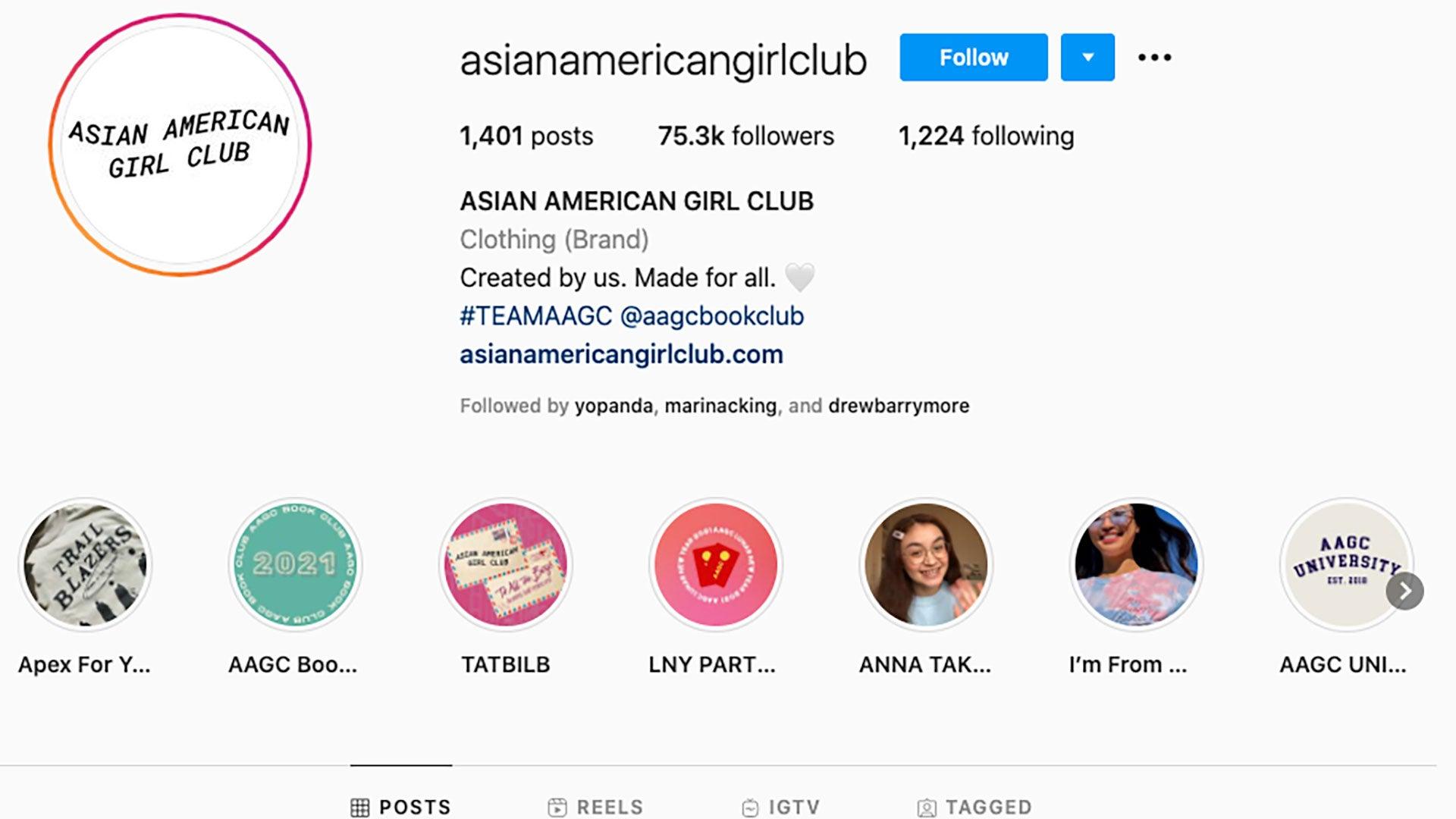 Asian American Girl Club IG