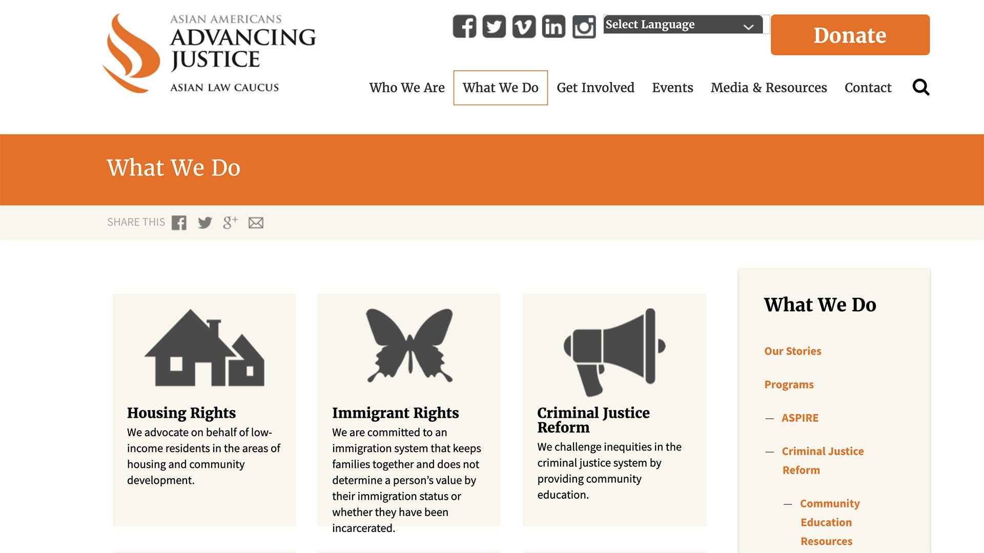 Asian Americans Advancing Justice Homepage