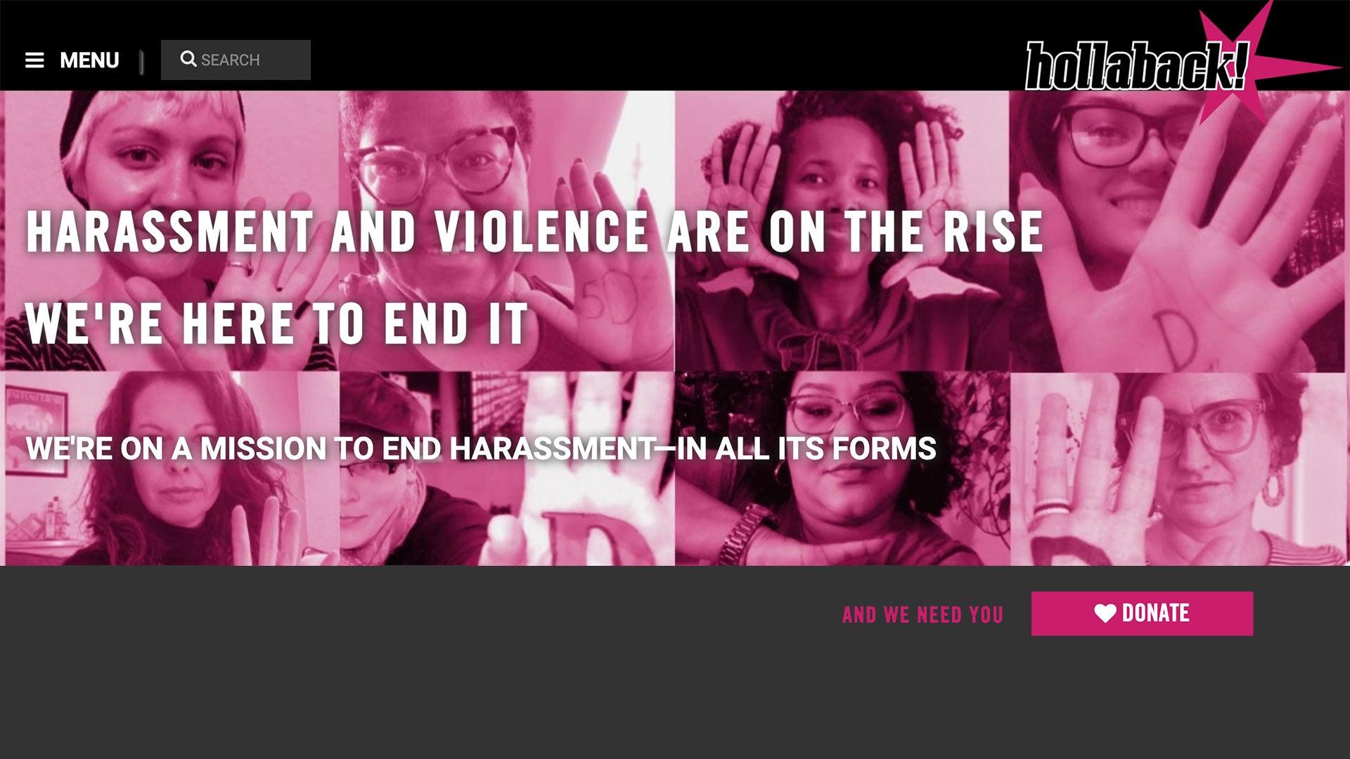 iHollaback homepage