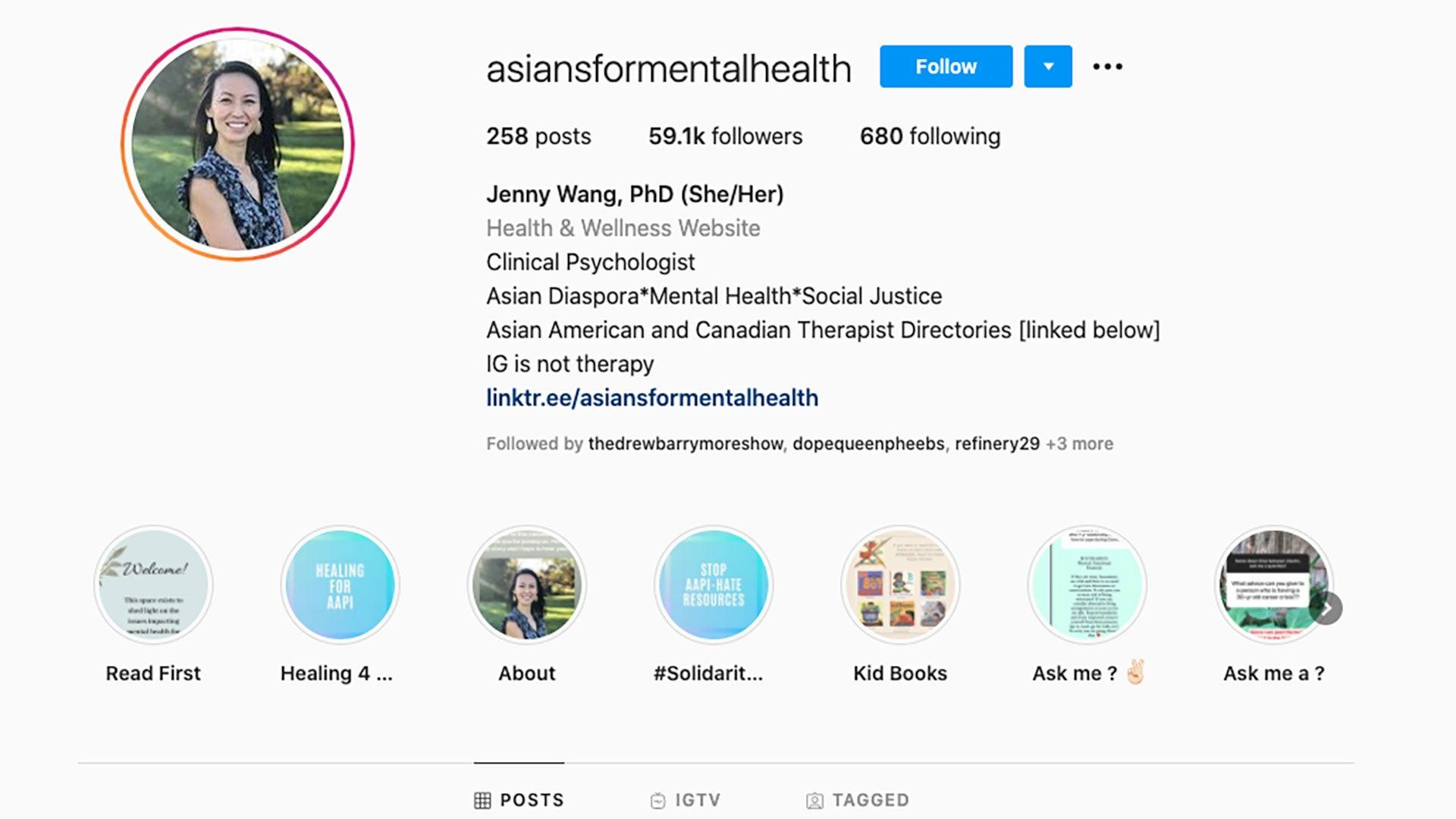 Asians for Mental Health IG