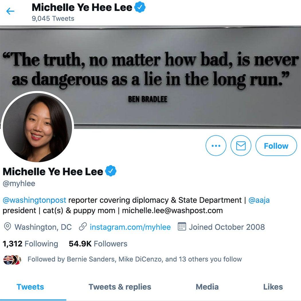 Michelle Ye Hee Lee Twitter