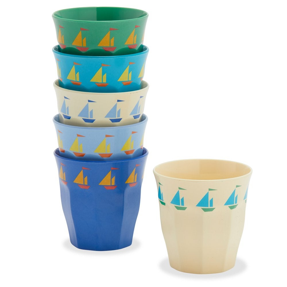 Sailboats Cup, 6 Pack by Drew Barrymore Flower Kids