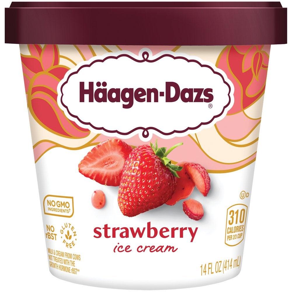 Haagen Dazs Strawberry Ice Cream