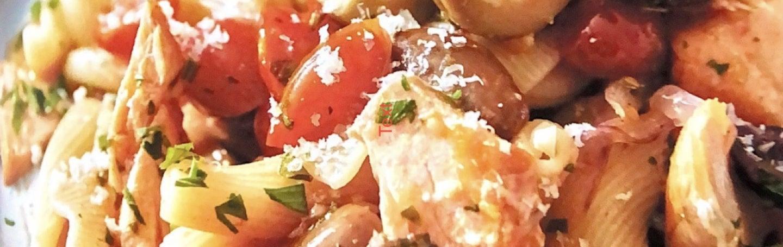 Campanelle with Salmon Puttanesca