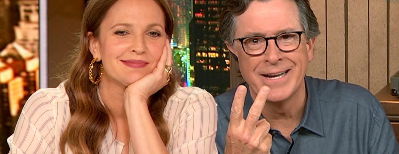 Stephen Colbert and Drew