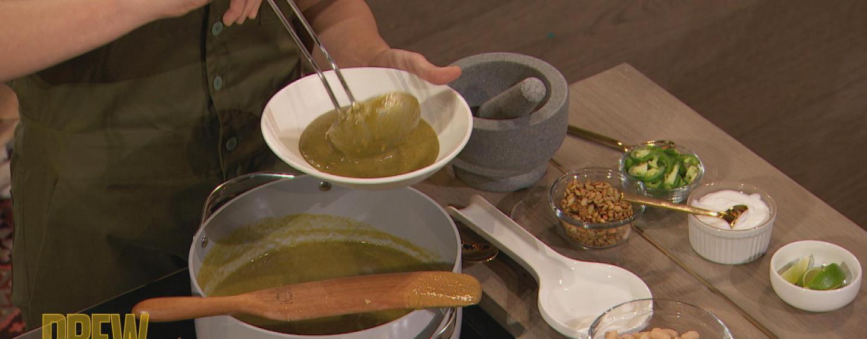 Roast Tomatillo-Poblano Soup