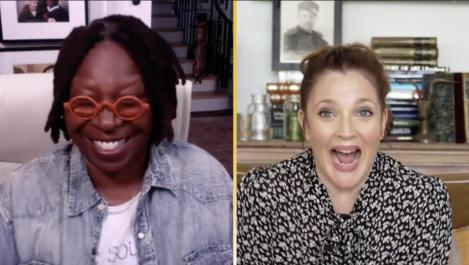 Whoopi and Drew are interviewing each other
