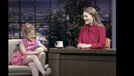 Drew interviews her younger self