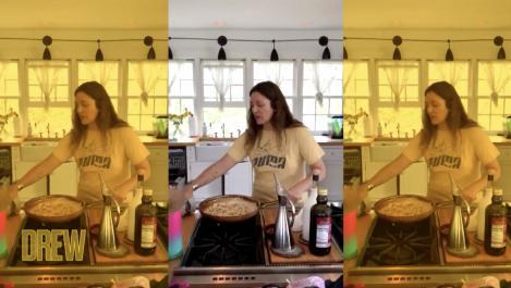 Drew in her kitchen