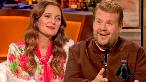 James Corden and DRew