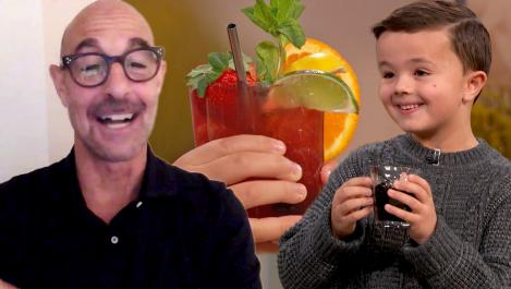 Stanley Tucci and Shirley Temple King