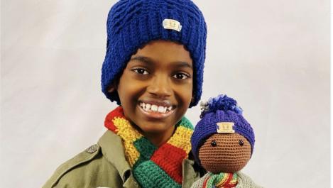 Jonah Larson and his doll