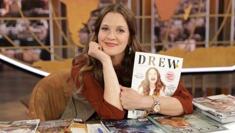 Drew Barrymore with DREW magazine