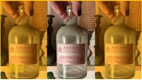 DIY crafted potion bottles