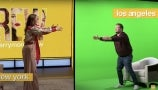 The Making of The Drew Barrymore Show James Corden Green Screen Stunt