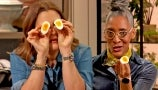 """Carla Hall Shows Drew How to Make """"Scary"""" Good Deviled Eggs"""
