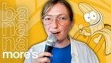Meet Comedian Anna Seregina's Mustached Alter Ego   Bananamore's