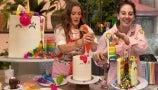 Flour Shop's Amirah Kassem Teaches Drew How to Make Unicorn Rainbow Cake