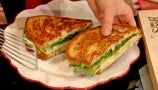 Pilar Valdes Makes Amazing Brie and Apple Grilled Cheese and Olive Oil Cake for Galentine's Day
