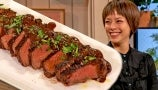 Pilar Valdes Shows Drew How to Perfectly Cook and Sear a Peppery Steak   Drew's Cookbook Club