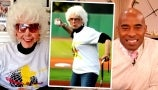 Tiki Barber Meets 94-Year-Old Woman Pro Baseballer Who Inspired A League of Their Own