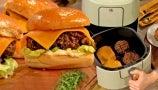 Dan Souza Shows Drew How to Make Lentil Mushroom Veggie Burgers with an Air Fryer