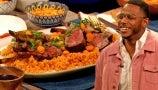 Drew's Obsessing Over Chef Kwame's Amazing Jerk Lamb with Jollof Rice | Drew's Cookbook Club