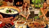 Jessica Alba and Drew Learn How to Make Delicious Veggies with Tzatziki Dip | #Grandgoals
