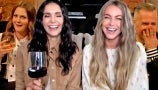 """Nina Dobrev and Julianne Hough Play """"Did the Crime, Sip the Wine"""" with Drew"""