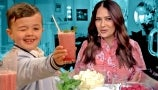 Salma Hayek Teaches The Shirley Temple King and Drew How to Mix a Delicious Summer Drink