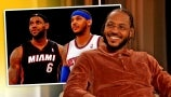 """Carmelo Anthony Jokes About How LeBron James """"Forced"""" Him to Join the L.A. Lakers"""
