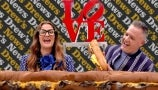 Drew and Ross Mathews Get a Massive Philly Cheesesteak the Size of the News Desk | Drew's News