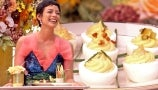 Pilar Valdes Shows Drew How to Make Emmy-Themed Snacks: Kate Winslettuce Cups, Jason SudEGGkis