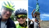 A 9-Year-Old Boy Bikes All the Way from Washington State to NYC with His Dad | Drew's News