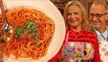 David and Amy Sedaris Teach Drew Their Mother's Greek Spaghetti Recipe