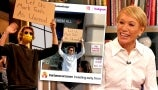 """Drew Surprises Shark Tank's Barbara Corcoran with Viral """"Dude with Sign"""""""