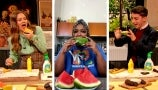 Drew and Eitan Bernath Try Lizzo's Mustard on Watermelon Food Combo
